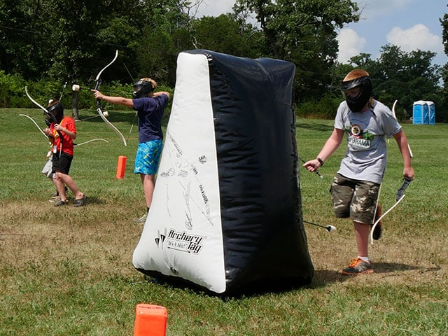 Mobile Archery Tag Birthday Party For Kids