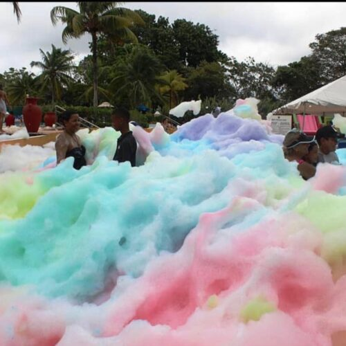 colored foam party